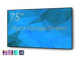 "SWEDX 75"" Digital Signage screen / 4K in 4K out"
