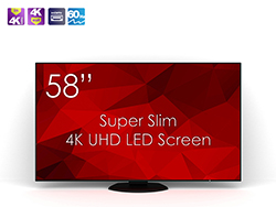 SWEDX SuperSlim 58 UHD-4K LED Screen. Pixel Policy 1