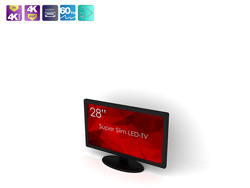 SWEDX 28 inch UHD-4K LED TV. Pixel Policy 2